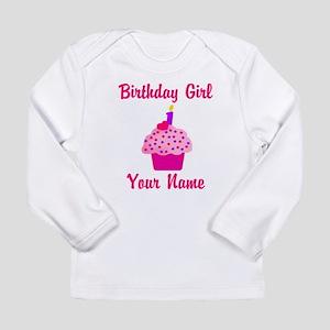 1st Birthday Cupcake Long Sleeve Infant T-Shirt