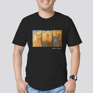 Monet Painting, Rouen Cathedral, Men's Fitted T-Sh