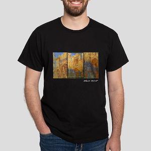 Monet Painting, Rouen Cathedral, Dark T-Shirt