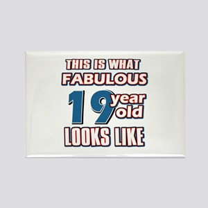 Cool 19 year old birthday designs Rectangle Magnet