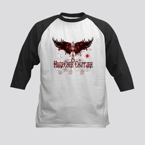 Celtic Crosses with Wings Red Kids Baseball Jersey