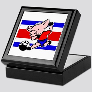 Costa Rica Soccer Pigs Keepsake Box