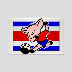 Costa Rica Soccer Pigs Rectangle Magnet