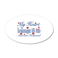 American Foxhound Dog Designs 38.5 x 24.5 Oval Wal