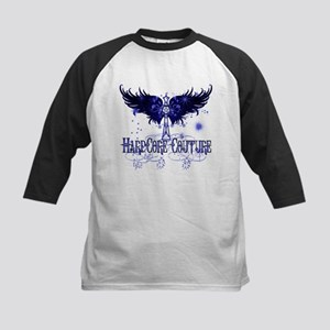 Celtic Cross with Wings Blue Kids Baseball Jersey