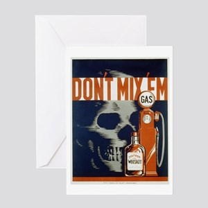 Don't Mix 'Em WPA Poster Greeting Card