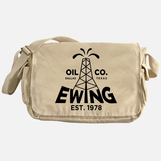 Dallas Retro Ewing Oil Messenger Bag