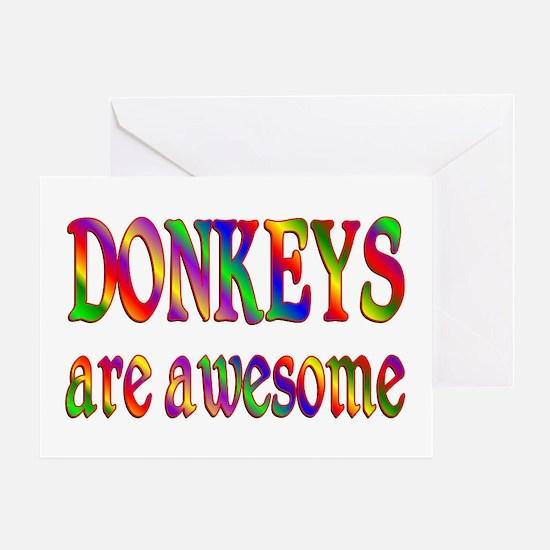 Awesome DONKEYS Greeting Card