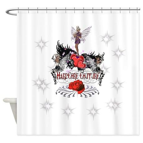 Fairies Winged Hearts HardCo Shower Curtain