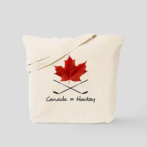 Canada. Hockey. Tote Bag