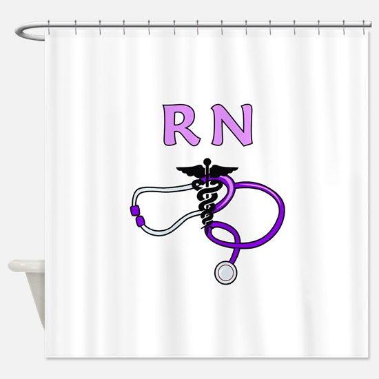 RN Nurse Medical Shower Curtain