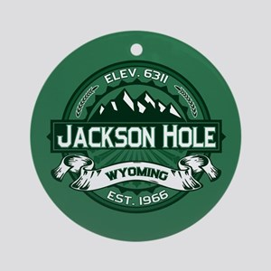 Jackson Hole Forest Ornament (Round)