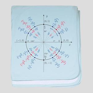 unit circle funny math geek baby blanket