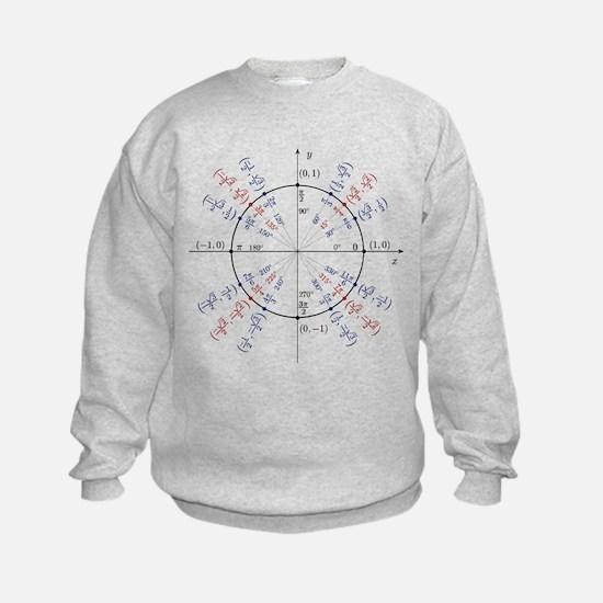 unit circle funny math geek Sweatshirt