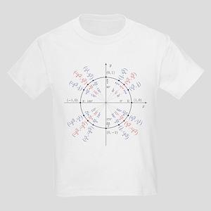 unit circle funny math geek Kids Light T-Shirt