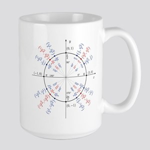 unit circle funny math geek Large Mug