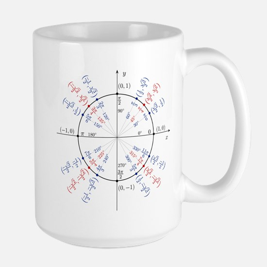 unit circle funny math geek Large Mug