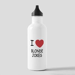 I heart blonde jokes Stainless Water Bottle 1.0L