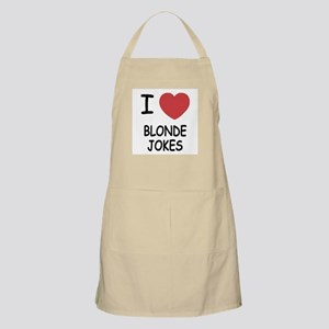 I heart blonde jokes Apron