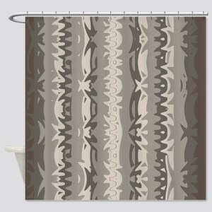 Brown And Grey Shower Curtain 01004 00006