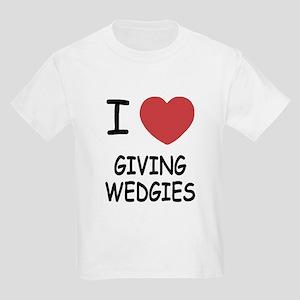 I heart giving wedgies Kids Light T-Shirt
