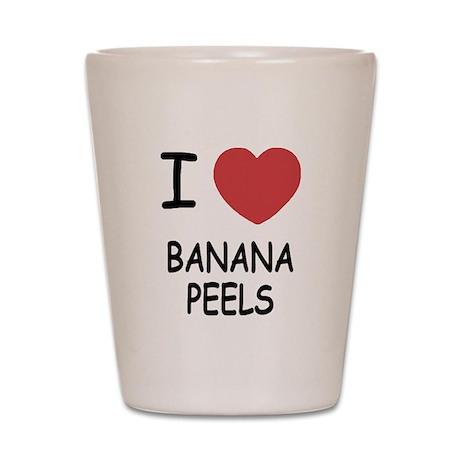 I heart banana peels Shot Glass
