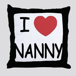 I heart nanny Throw Pillow