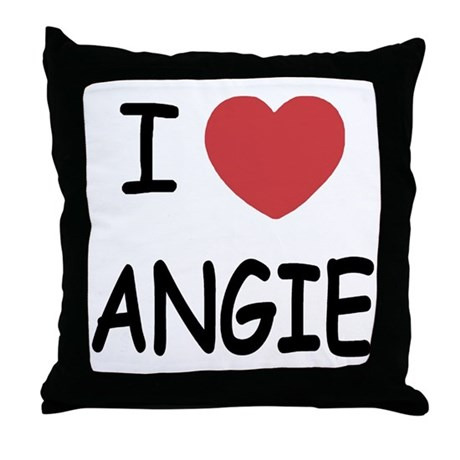 I heart angie Throw Pillow