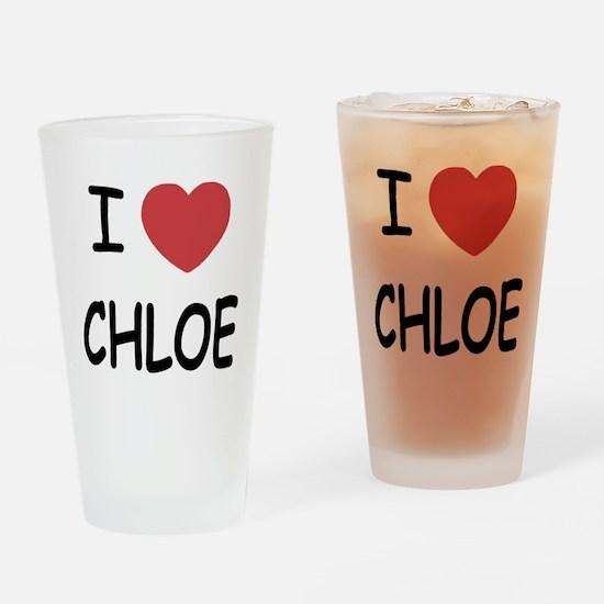 I heart chloe Drinking Glass