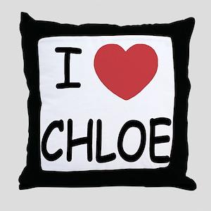 I heart chloe Throw Pillow