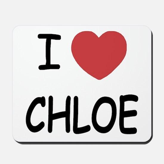 I heart chloe Mousepad
