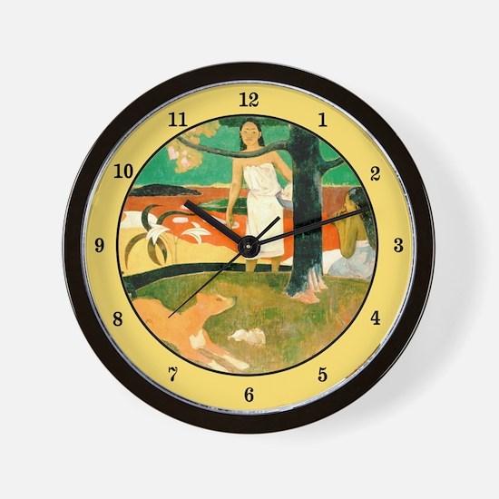 Tahitian Pastoral, Gauguin Wall Clock