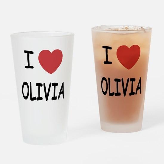 I heart olivia Drinking Glass