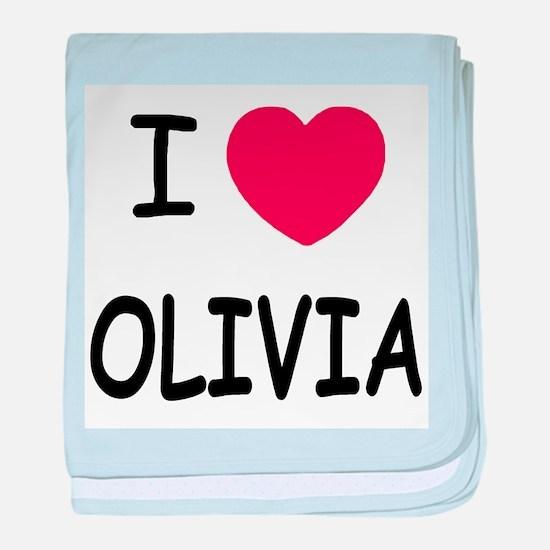 I heart olivia baby blanket