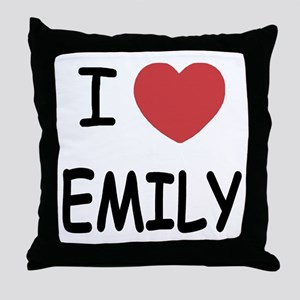 I heart emily Throw Pillow