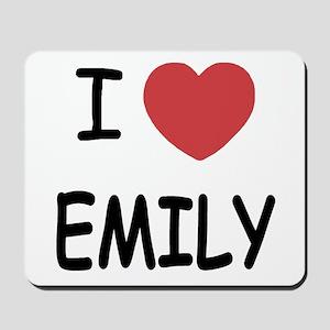 I heart emily Mousepad