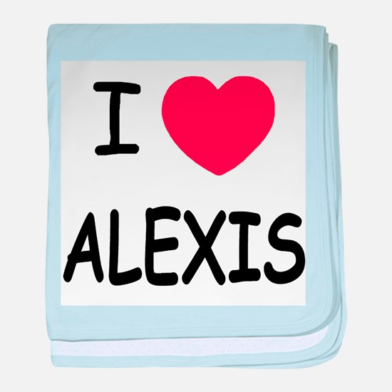 I heart alexis baby blanket
