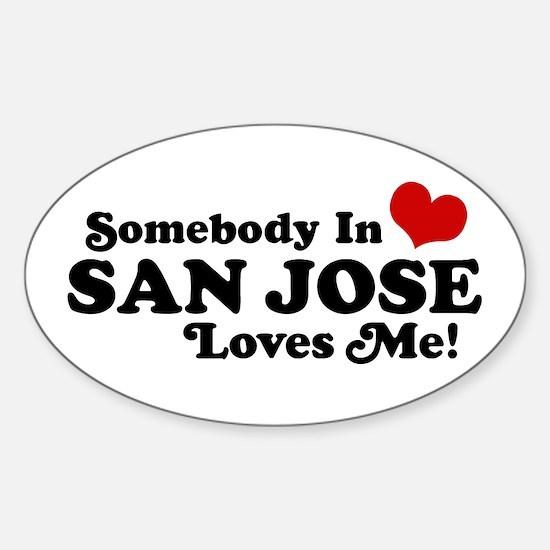 San Jose Sticker (Oval)