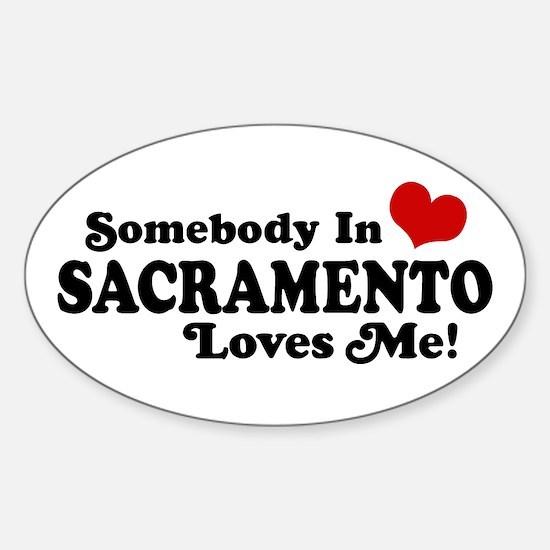 Sacramento Sticker (Oval)