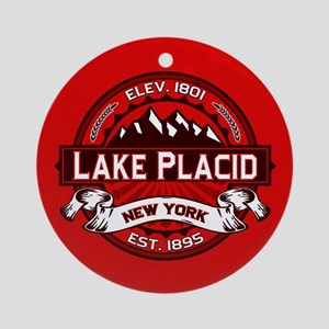 Lake Placid Red Logo Ornament (Round)