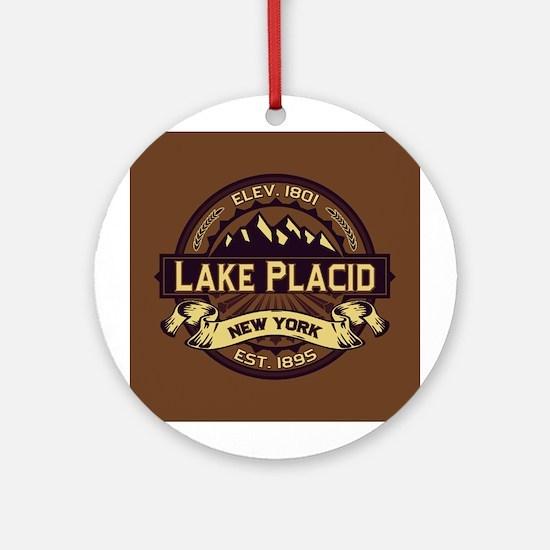 Lake Placid Sepia Logo Ornament (Round)