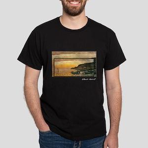 Seacoast at Saint-Adresse, Sunset, Monet, Dark T-S