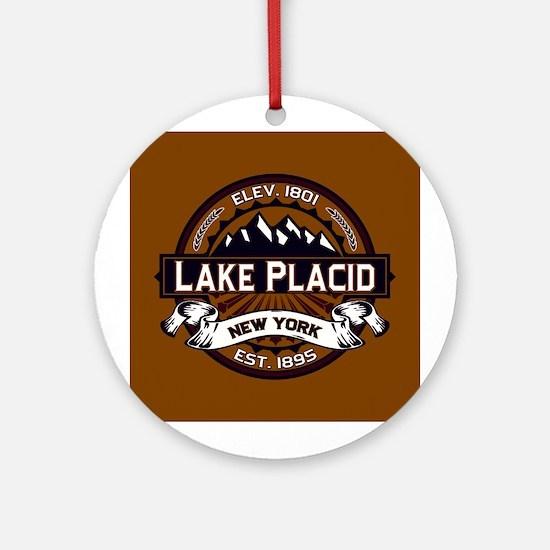 Lake Placid Vibrant Logo Ornament (Round)