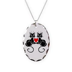 Black Cat Love Necklace