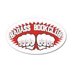 Badass Book Club 22x14 Oval Wall Peel