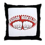 Badass Book Club Throw Pillow