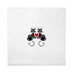 Black Cat Love Queen Duvet