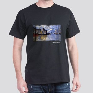 Monet Painting, Sailboats, 1864-66, Dark T-Shirt
