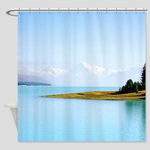 Southern Alps Aoraki NZ Shower Curtain