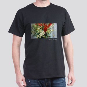 Bouquet, Lilies and Dasies, Monet, Dark T-Shirt